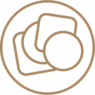 Brown Kraft Coasters - Ready Shape Templates 1 Icon