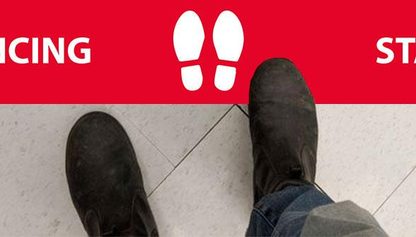Social Distance Floor Bar 1 Image