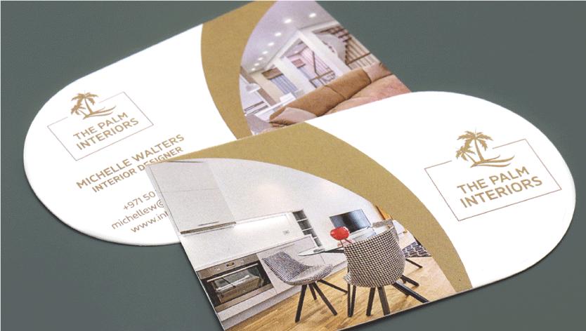 <div>Half-Circle Business Cards</div> 1 Image