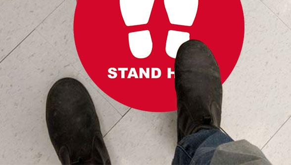 Social Distance Floor Sticker 1 Image