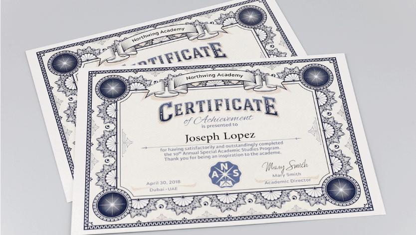 Premium Certificates - Zoom 1 Image