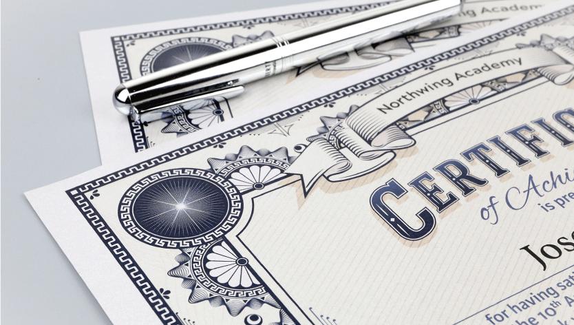 Premium Certificates - Zoom 3 Image