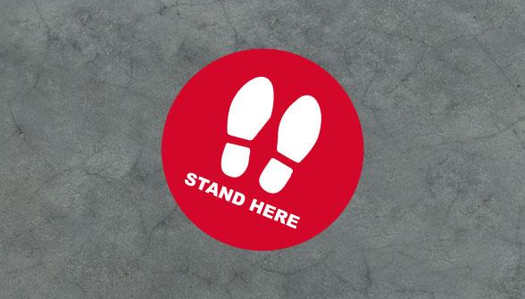 Social Distance Floor Sticker - Zoom 3 Image