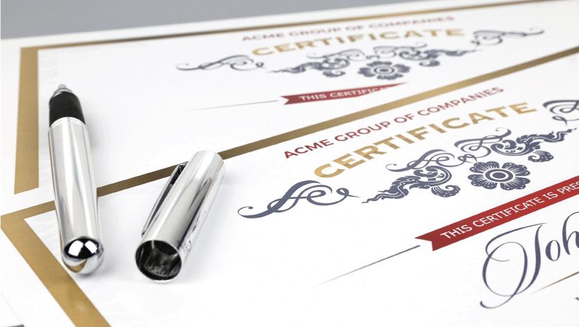 Standard Certificates - Zoom 2 Image