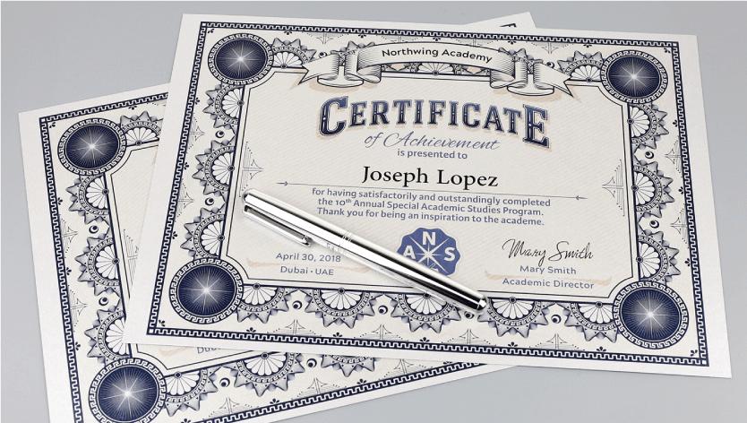Premium Certificates - Zoom 2 Image