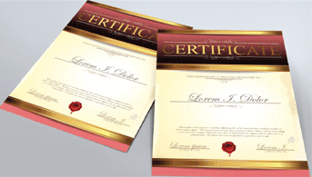 Express Certificates - Zoom 1 Image