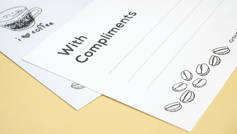 Conqueror Compliment Slips - Zoom 2 Image